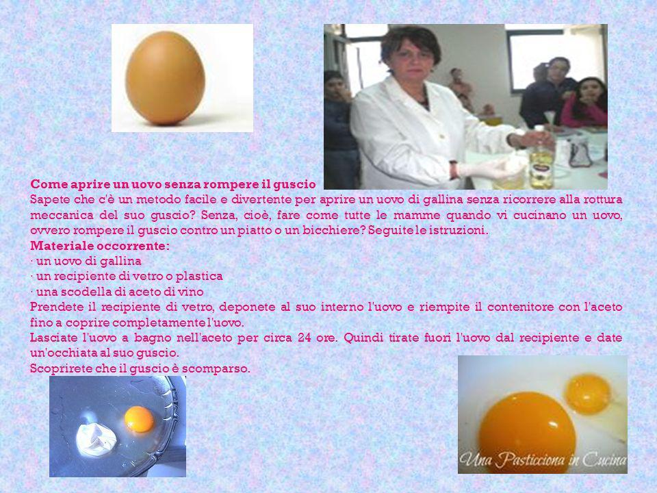 Come aprire un uovo senza rompere il guscio Sapete che c'è un metodo facile e divertente per aprire un uovo di gallina senza ricorrere alla rottura me