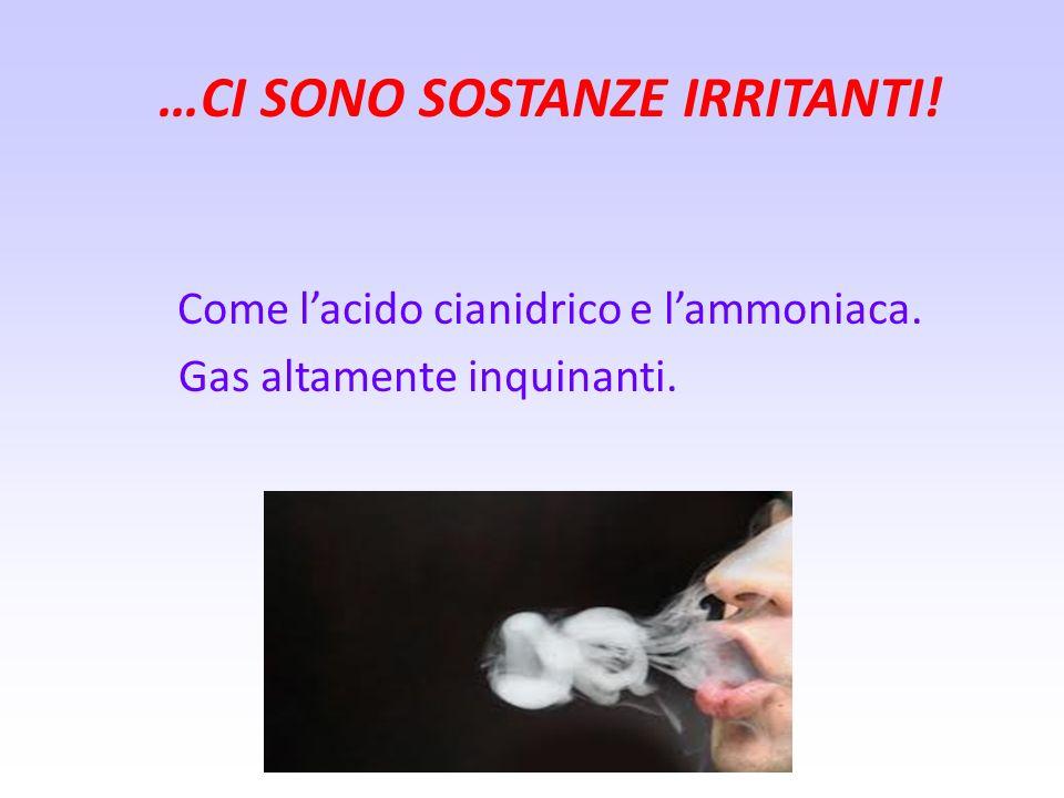 …CI SONO PARTICELLE SOLIDE! Si tratta di sostanze catramose che esercitano unazione irritante sui tessuti dellapparato respiratorio e tendono a deposi