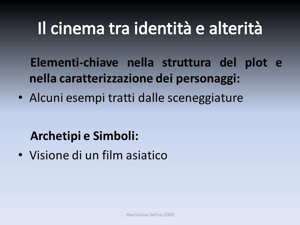 Elementi-chiave nella struttura del plot e nella caratterizzazione dei personaggi: Alcuni esempi tratti dalle sceneggiature Archetipi e Simboli: Visio