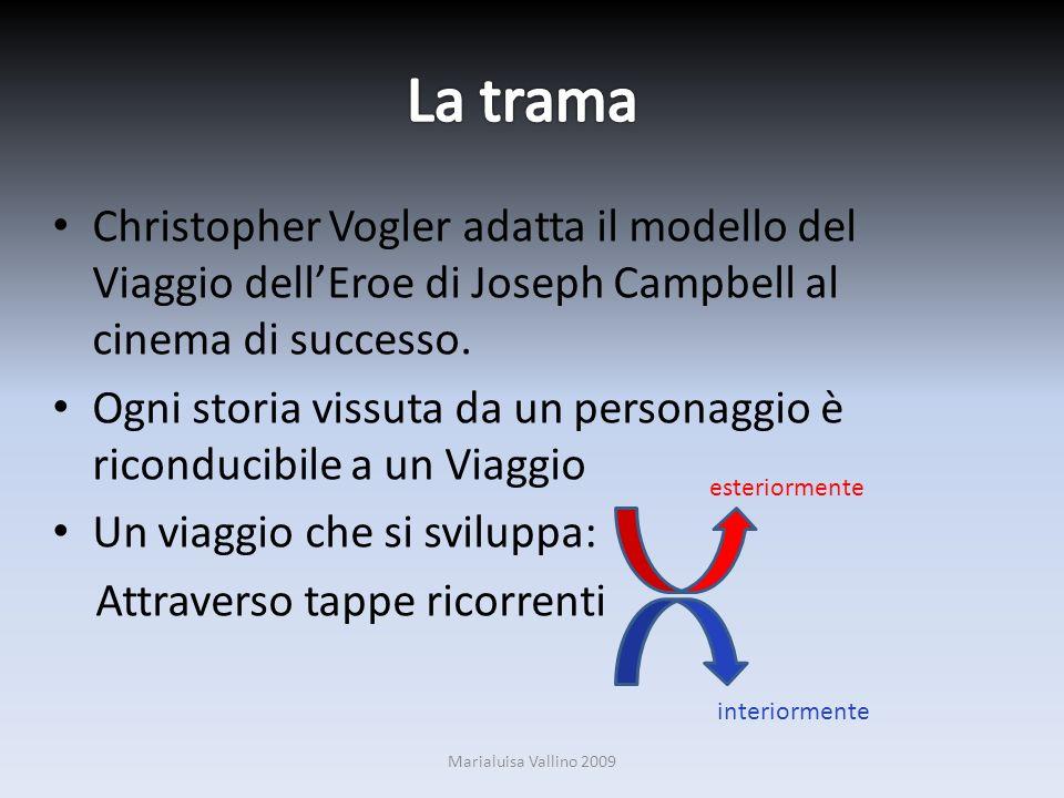 Christopher Vogler adatta il modello del Viaggio dellEroe di Joseph Campbell al cinema di successo. Ogni storia vissuta da un personaggio è riconducib