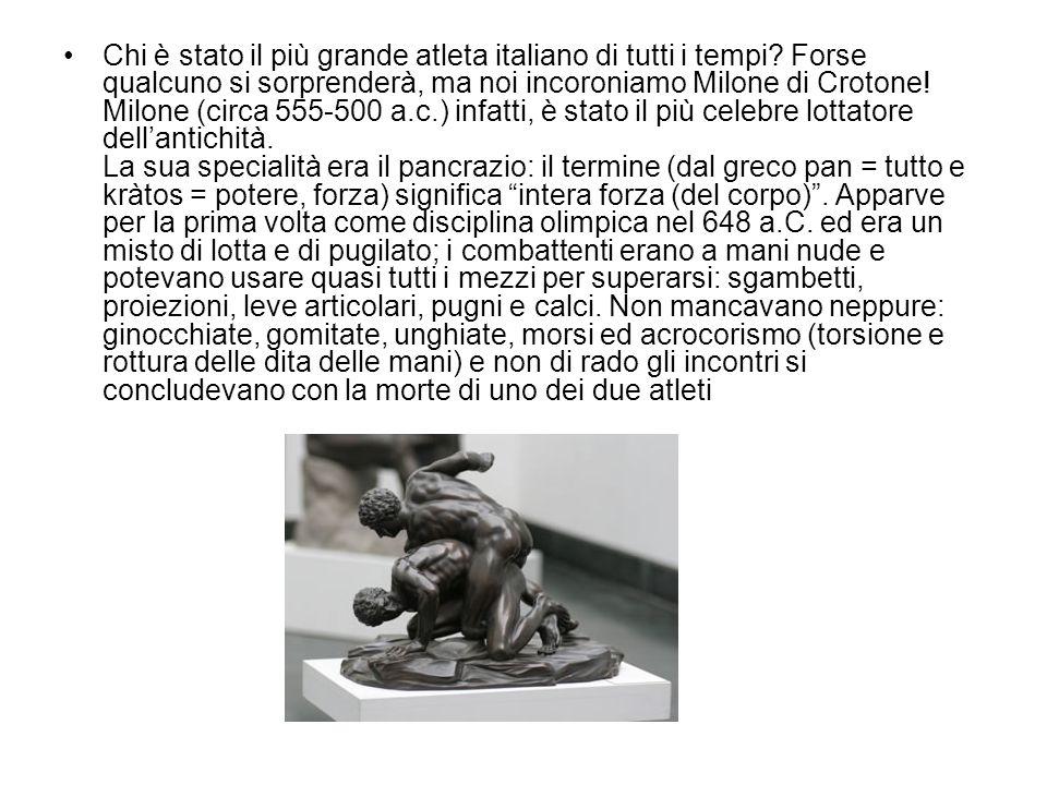 Chi è stato il più grande atleta italiano di tutti i tempi.