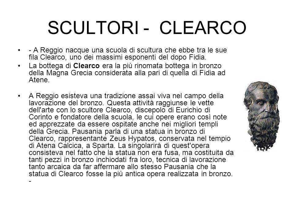 PITAGORA REGGINO Nacque nell isola di Samo; nel 496 a.C., al tempo del tiranno reggino Anaxilas, si trasferì, con altri abitanti di Samo, a Rhegion (l attuale Reggio Calabria), fiorente città della Magna Grecia; qui fu discepolo del grande maestro Clearco di Reggio.