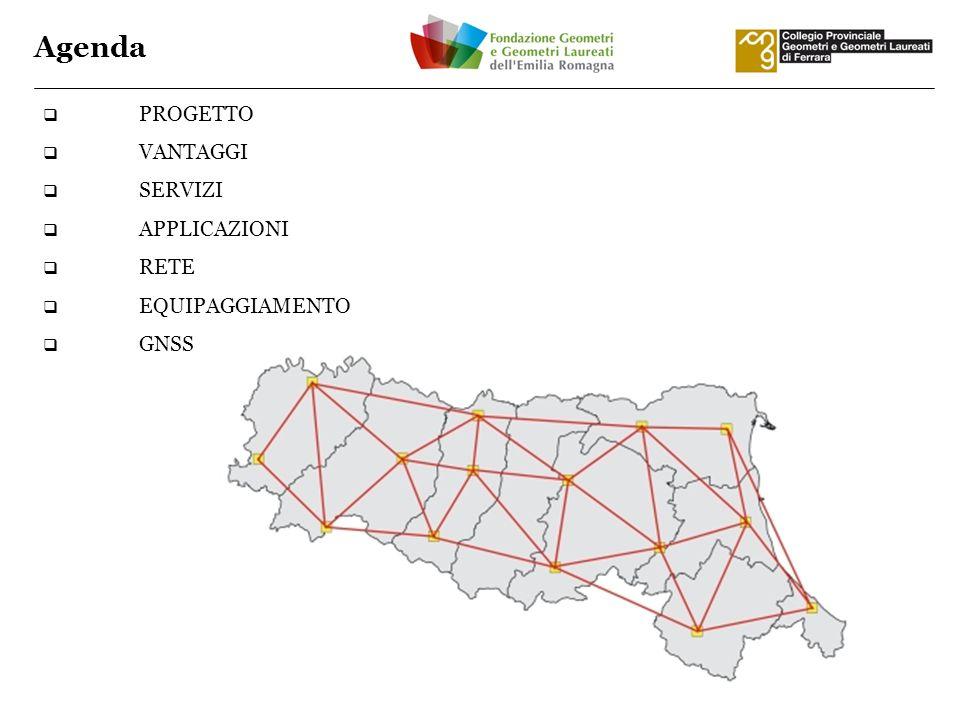 PROGETTO VANTAGGI SERVIZI APPLICAZIONI RETE EQUIPAGGIAMENTO GNSS Agenda