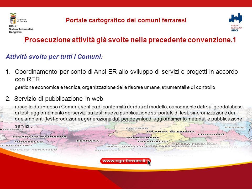 Prosecuzione attività già svolte nella precedente convenzione.2 Attività svolta per tutti i Comuni: 3.