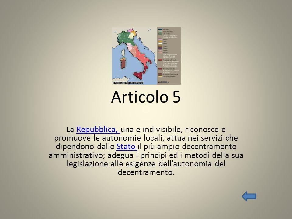 Articolo 6 La Repubblica tutela con apposite norme le minoranze linguistiche.Repubblica