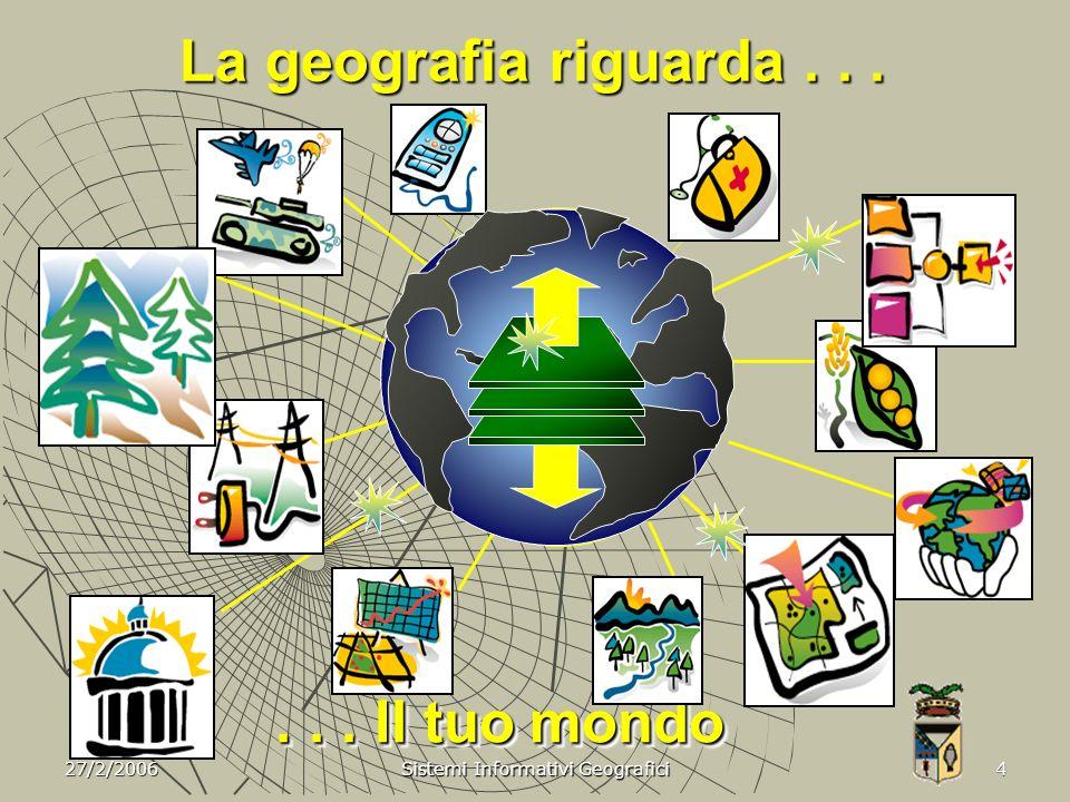 27/2/2006 Sistemi Informativi Geografici 5 Misurare ed integrare le parti...