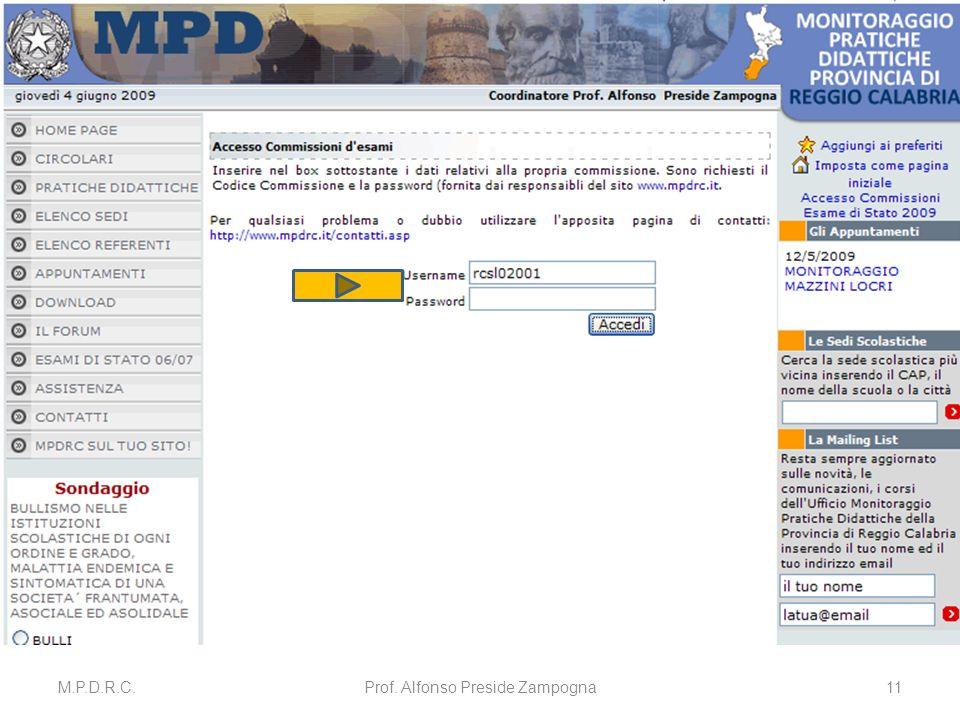 M.P.D.R.C.Prof. Alfonso Preside Zampogna11