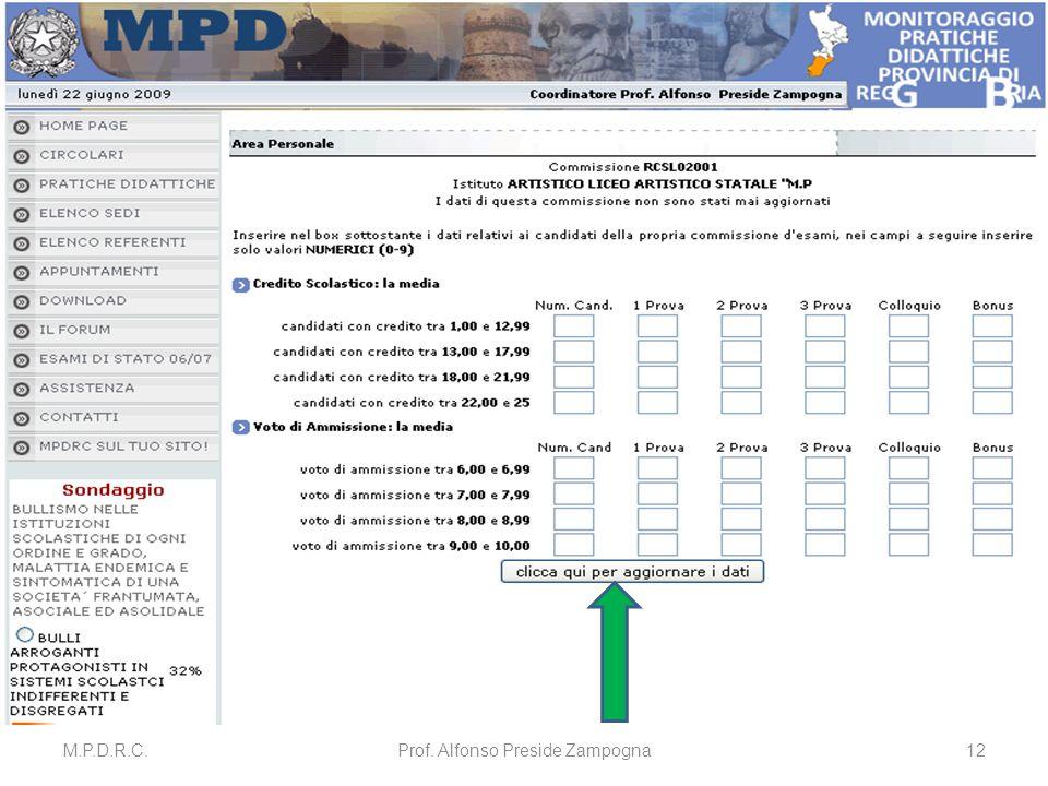 M.P.D.R.C.Prof. Alfonso Preside Zampogna12