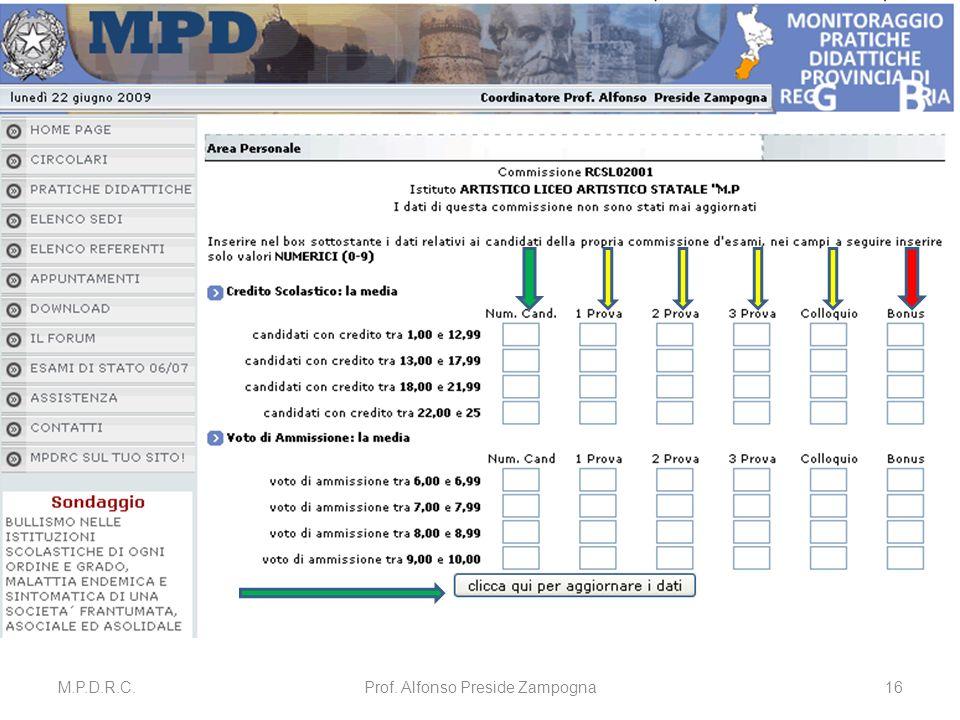 M.P.D.R.C.Prof. Alfonso Preside Zampogna16