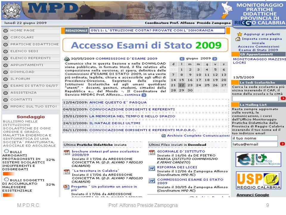 M.P.D.R.C.Prof. Alfonso Preside Zampogna9