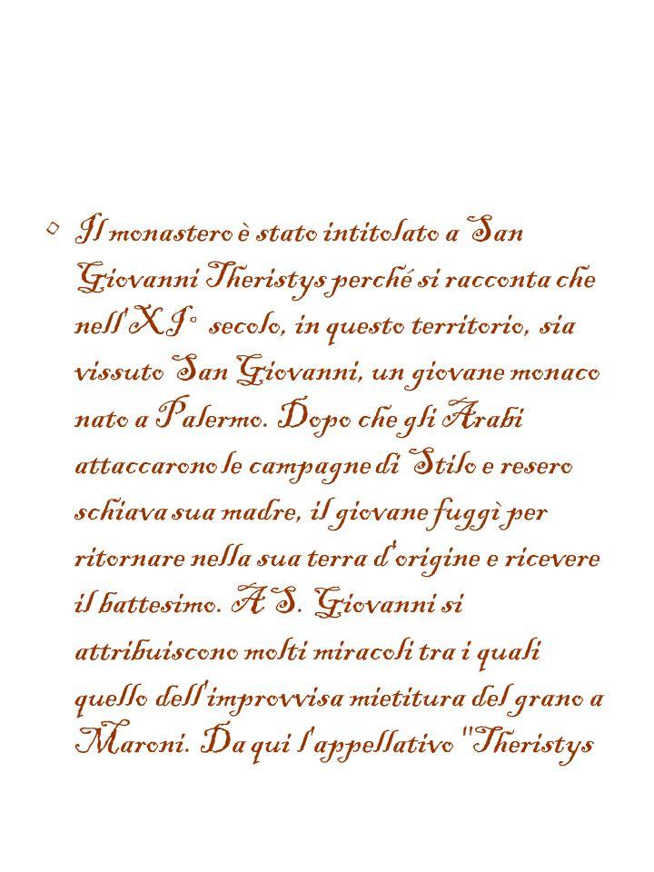 Il Cenobio, l'unico in Italia fondato dai monaci del monte Athos (in Grecia) e di cui rimangono soltanto i ruderi, si trova ai piedi del monte Consoli