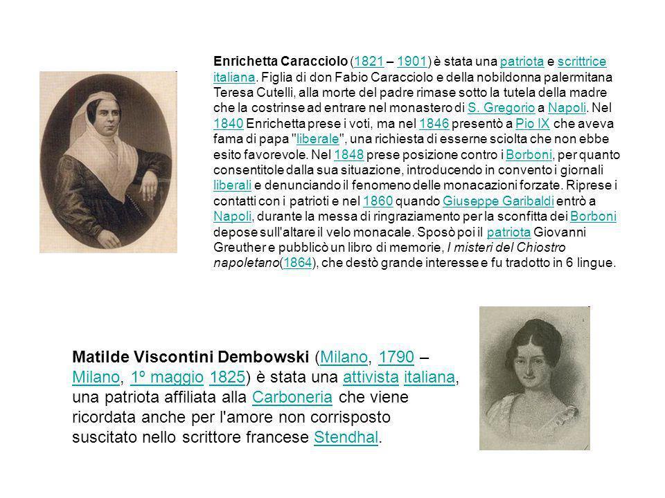 Enrichetta Caracciolo (1821 – 1901) è stata una patriota e scrittrice italiana. Figlia di don Fabio Caracciolo e della nobildonna palermitana Teresa C