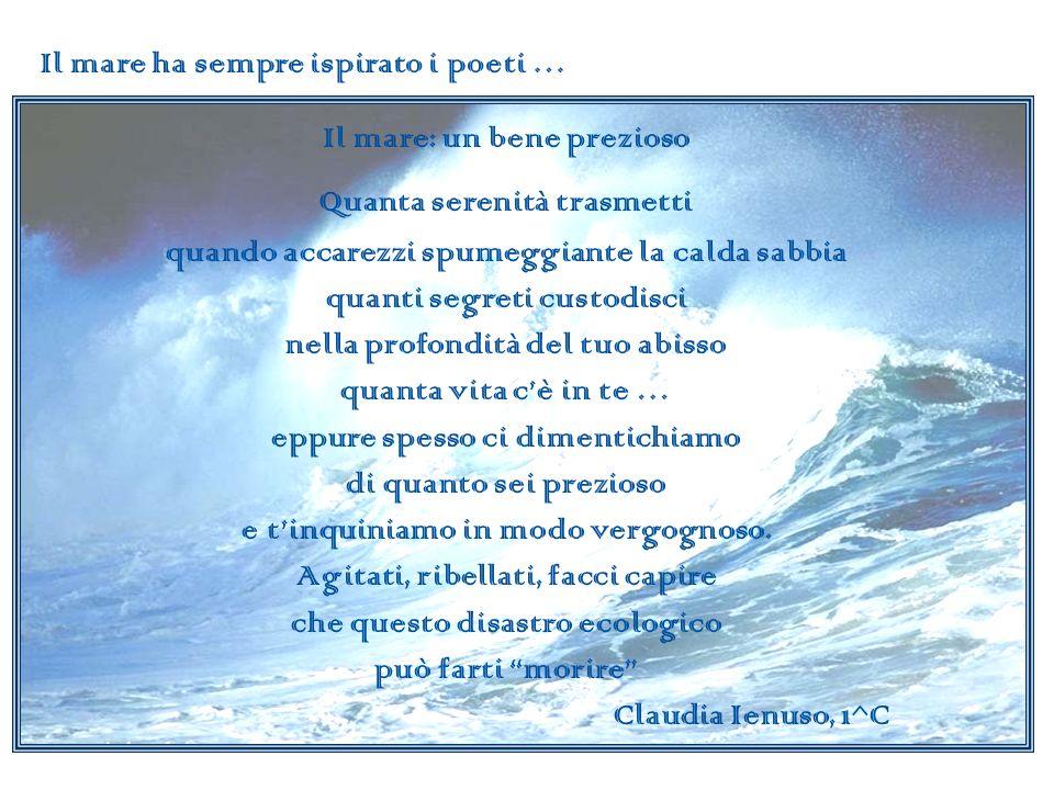 Sognare Un tuffo nel mare mi va di sognare acque pulite, fondali inviolati, sirene innamorate che sanno ancora incantare.