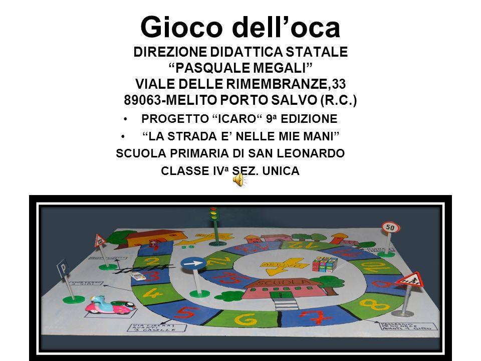 Gioco delloca DIREZIONE DIDATTICA STATALE PASQUALE MEGALI VIALE DELLE RIMEMBRANZE,33 89063-MELITO PORTO SALVO (R.C.) PROGETTO ICARO 9 a EDIZIONE LA ST