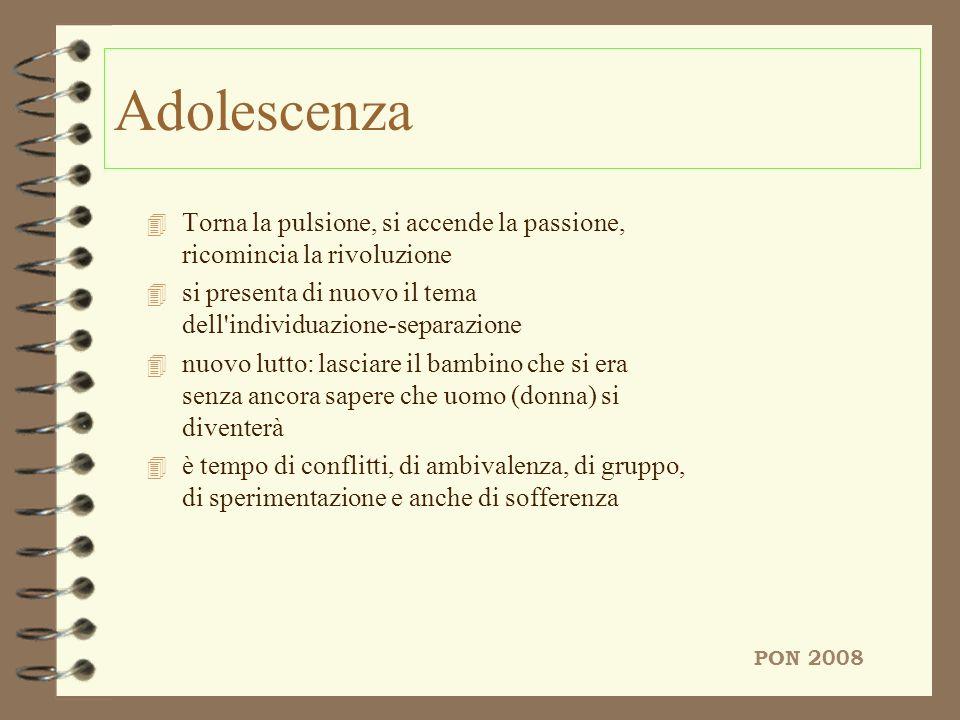 Adolescenza 4 Torna la pulsione, si accende la passione, ricomincia la rivoluzione 4 si presenta di nuovo il tema dell'individuazione-separazione 4 nu