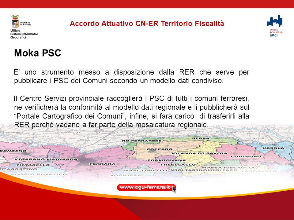 Moka PSC E uno strumento messo a disposizione dalla RER che serve per pubblicare i PSC dei Comuni secondo un modello dati condiviso.
