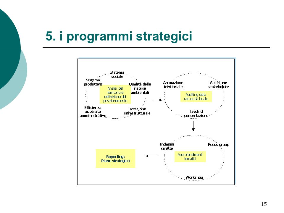 15 5. i programmi strategici