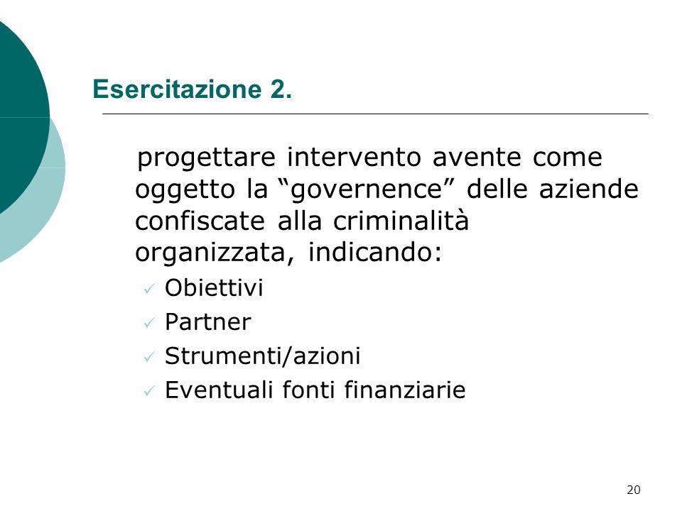 20 Esercitazione 2.