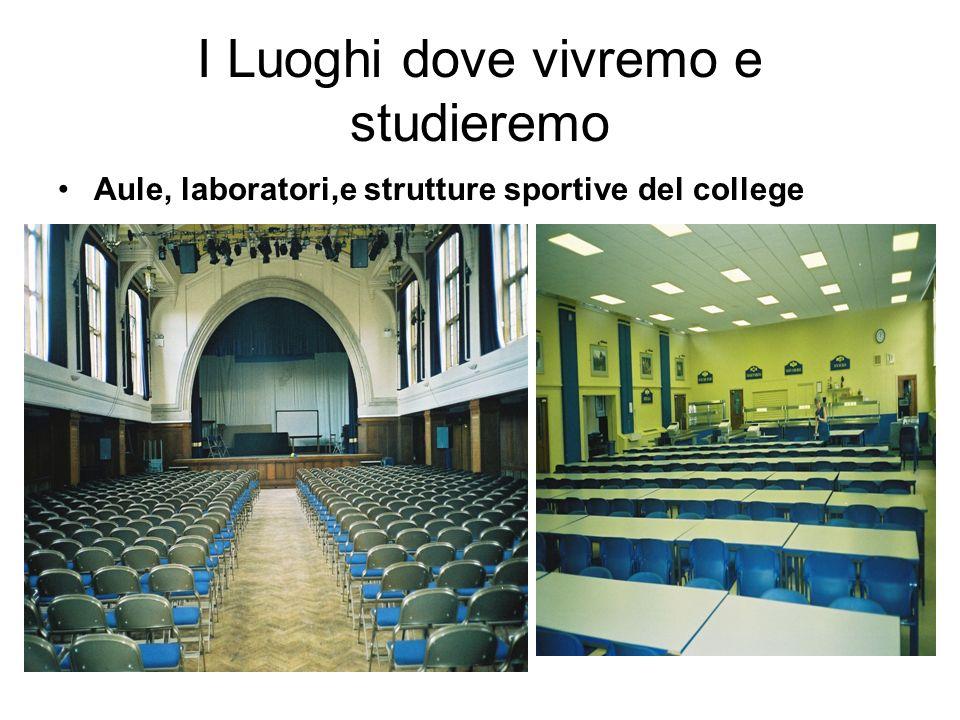 I Luoghi dove vivremo e studieremo Aule, laboratori,e strutture sportive del college