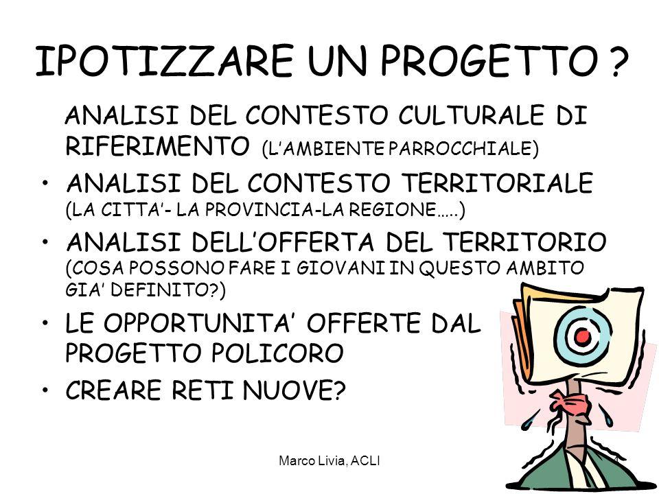 Marco Livia, ACLI4 IPOTIZZARE UN PROGETTO .