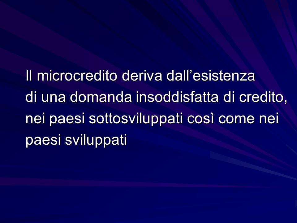 IL MICROCREDITO IN EUROPA 2005200720092010 Numero prestiti 27.00042.85084.520100.000 in milioni di euro 210390820850 Fonte: EMN
