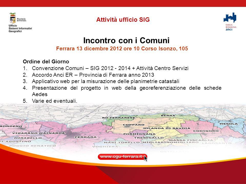 Convenzione Provincia di Ferrara – Comuni Prot.N.