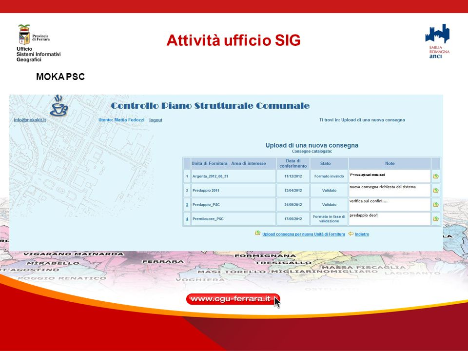 Attività ufficio SIG MOKA PSC Prova upload zona sud