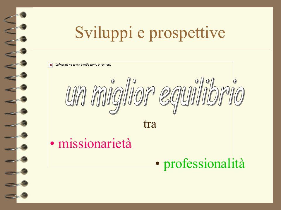 Sviluppi e prospettive missionarietà professionalità tra