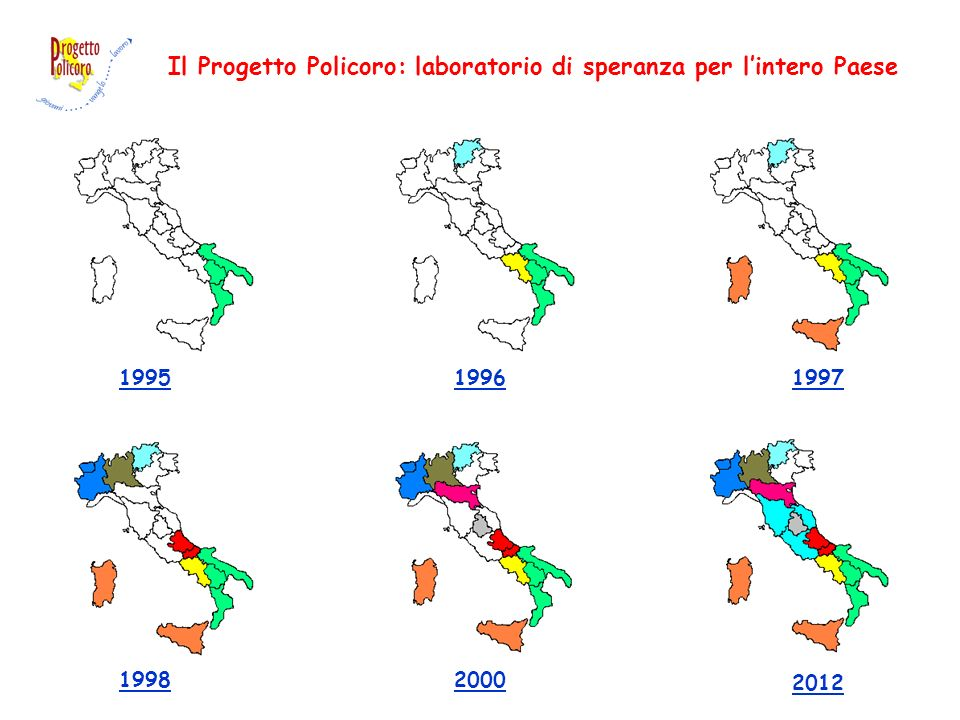 Il Progetto Policoro: laboratorio di speranza per lintero Paese 2012 20001998 199719961995