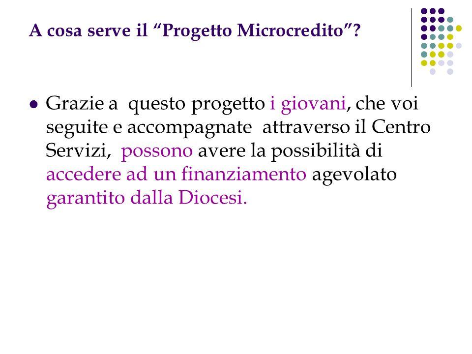 A cosa serve il Progetto Microcredito.