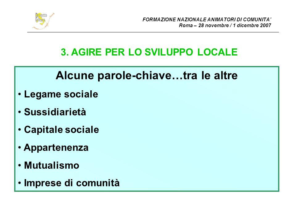FORMAZIONE NAZIONALE ANIMATORI DI COMUNITA Roma – 28 novembre / 1 dicembre 2007 4.4.