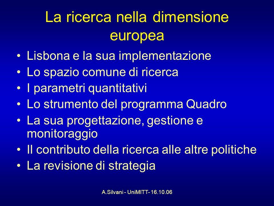 A.Silvani - UniMITT- 16.10.06 Tra i temi trasversali emersi… Il rapporto tra strumenti (e pratiche) e riforma della P.A.