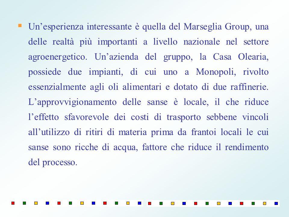 Unesperienza interessante è quella del Marseglia Group, una delle realtà più importanti a livello nazionale nel settore agroenergetico. Unazienda del