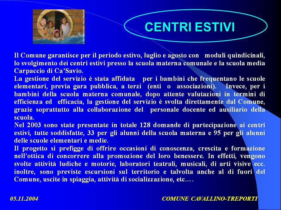 05.11.2004COMUNE CAVALLINO-TREPORTI CENTRI ESTIVI