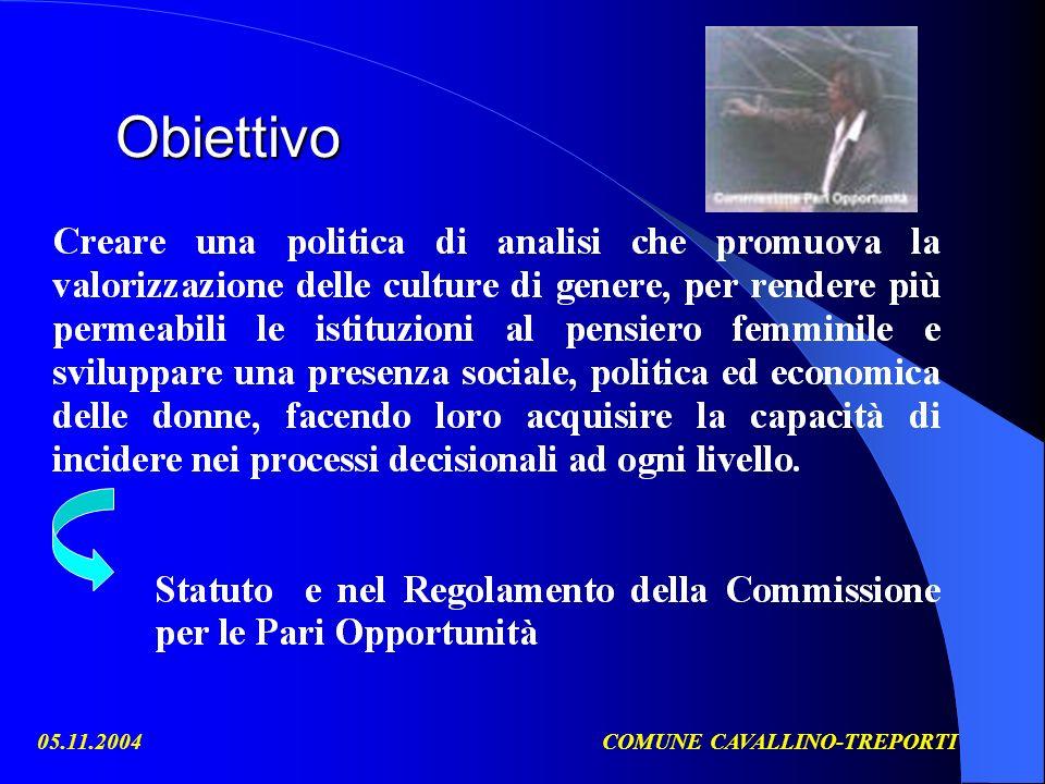 05.11.2004COMUNE CAVALLINO-TREPORTI Obiettivo