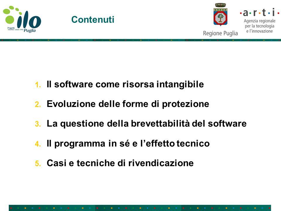 Contenuti 1. Il software come risorsa intangibile 2.