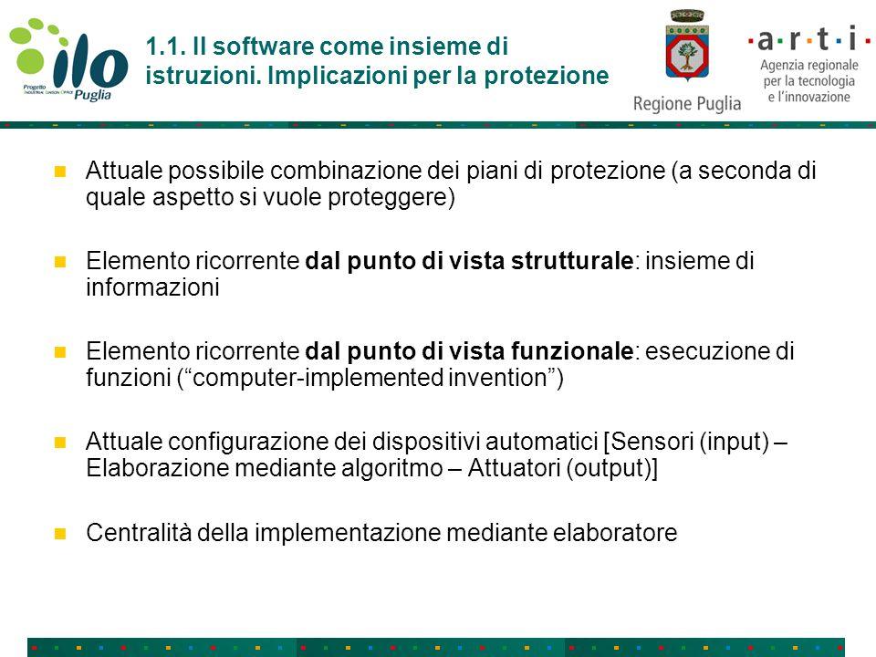 1.1. Il software come insieme di istruzioni.