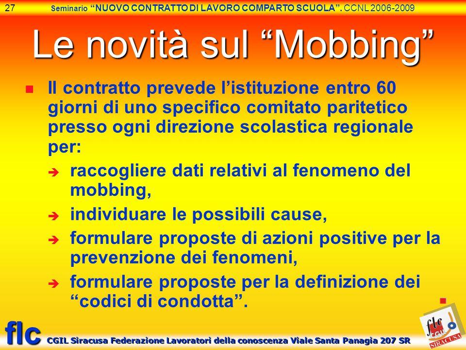 Seminario NUOVO CONTRATTO DI LAVORO COMPARTO SCUOLA.