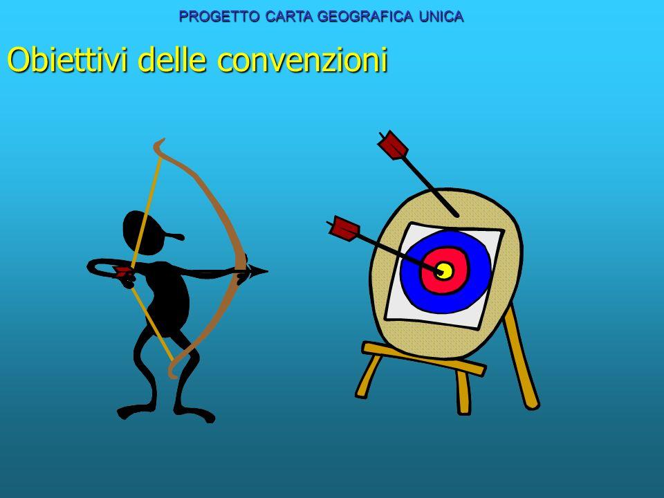 Obiettivi delle convenzioni PROGETTO CARTA GEOGRAFICA UNICA