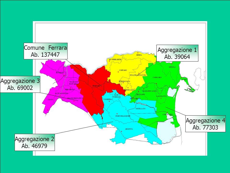I Comuni della provincia di Ferrara per fornire i dati toponomastici relativi ai nomi delle strade ed ai numeri civici attribuiti agli edifici, preventivamente adeguati verificati e riportati sulla CTR5 informatizzata e georeferenziata, si sono costituiti in aggregazione.