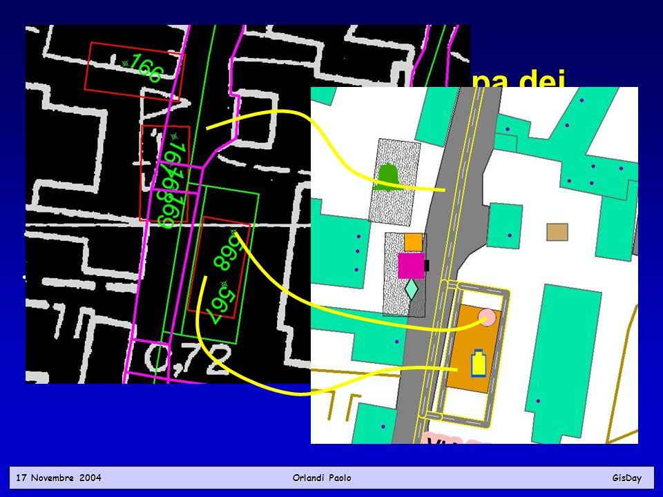 17 Novembre 2004 Orlandi PaoloGisDay Fasi del Progetto Posizionamento in mappa dei tematismi Fasi del Progetto Posizionamento in mappa dei tematismi P