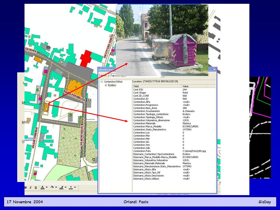 17 Novembre 2004 Orlandi PaoloGisDay Fasi del Progetto Importazione in ambiente G.I.S. Fasi del Progetto Importazione in ambiente G.I.S.