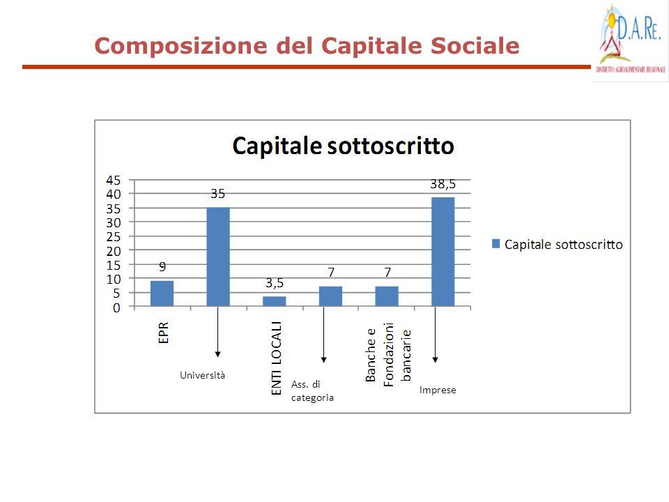 Composizione del Capitale Sociale Università Ass. di categoria Imprese