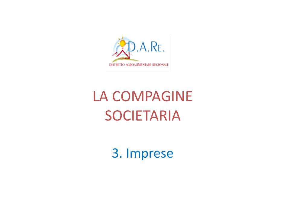 LA COMPAGINE SOCIETARIA 3. Imprese