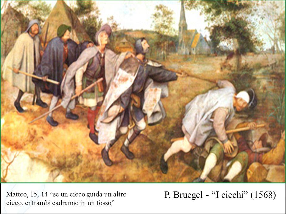 P. Bruegel - I ciechi (1568) Matteo, 15, 14 se un cieco guida un altro cieco, entrambi cadranno in un fosso