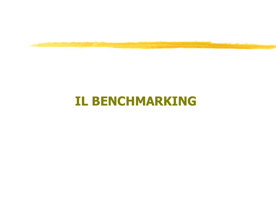 IL BENCHMARKING