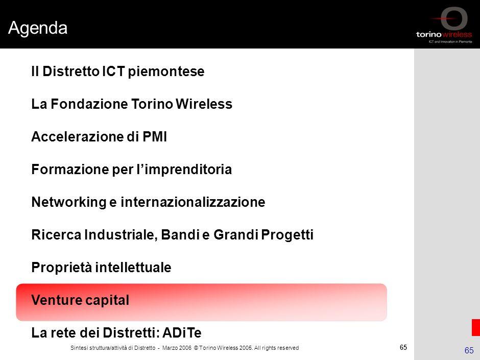 64 Sintesi struttura/attività di Distretto - Marzo 2006 © Torino Wireless 2005. All rights reserved 64 Il caso DREAM – Dispositivo Rilevazione Emergen