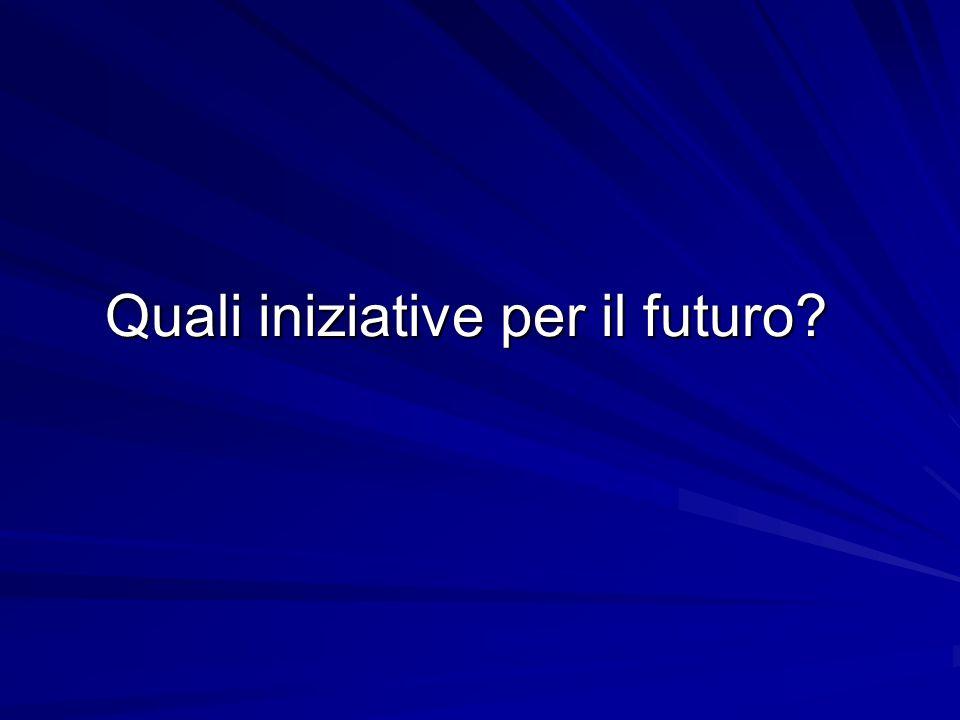 Quali iniziative per il futuro