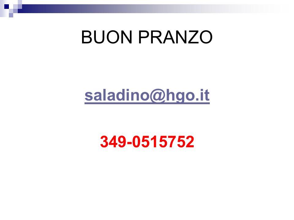 BUON PRANZO saladino@hgo.it 349-0515752