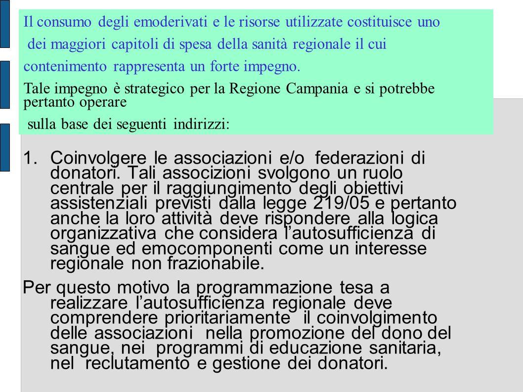 1.Coinvolgere le associazioni e/o federazioni di donatori.